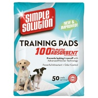 Simple Solution Training Pads 58cm x 61cm 50Pk