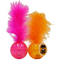 Scream Lattice Ball with Feather 2Pk