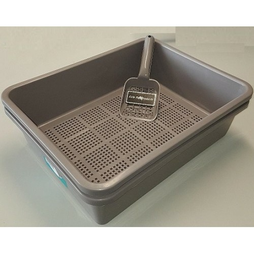 Kitter Litter Tray for Cats [Colour: Charcoal]