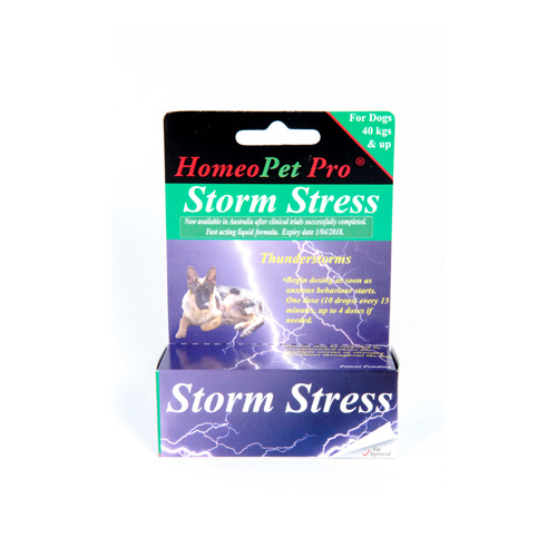 Homeopet Storm Stress 15ml. [Size: Over 40kgs.]
